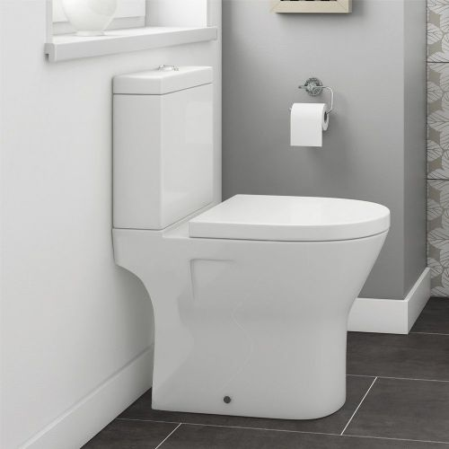 Marbella Mini Close Coupled Back To Wall Toilet & Soft Close Seat